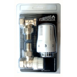 Комплект кранів кутових з термостатом для радіатора