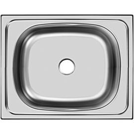 Кухонна мийка накладна  400*500 полірована 140/0,4
