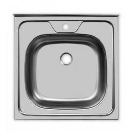 Кухонна мийка накладна 500*500 полірована 140/0,4