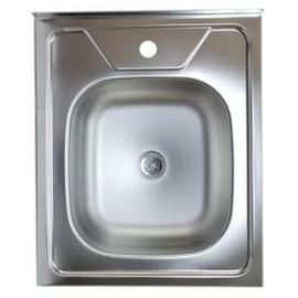 Кухонна мийка накладна 500*600 полірована 140/0,4