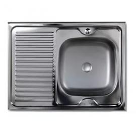 Кухонна мийка накладна 600*800 полірована 140/0,4 права