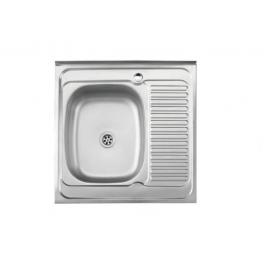 Кухонна мийка накладна  500*600 полірована 190/0,5 ліва