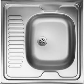 Кухонна мийка накладна 500*600 полірована 190/0,5 права