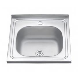 Кухонна мийка накладна  500*500 декор 180/0,8